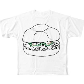 ランプレドットのイラスト 白文字 Full Graphic T-Shirt