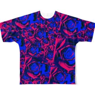 薔薇園 Full graphic T-shirts