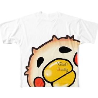 なまらたべらさるちくわぴよ:ひょっこりシリーズ Full graphic T-shirts