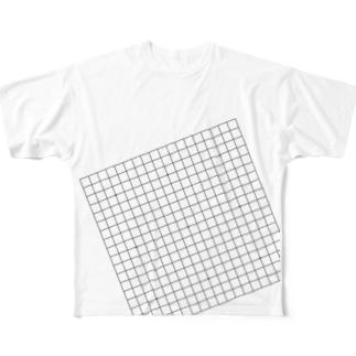 囲碁Tシャツ(斜め19路盤) Full graphic T-shirts