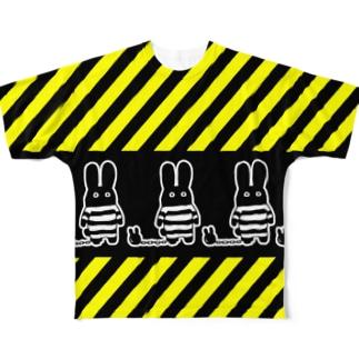 囚人うさぎ Full graphic T-shirts