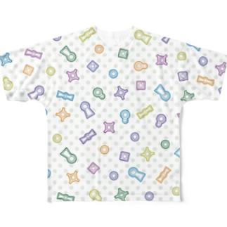 イロイロナ古墳(カラフル) Full graphic T-shirts