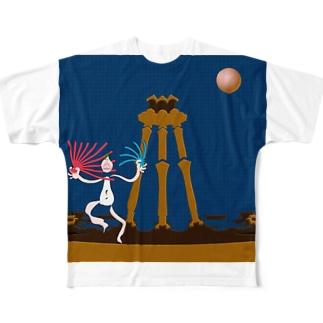 月下の舞 Full graphic T-shirts