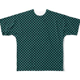 連続模様9 Full graphic T-shirts