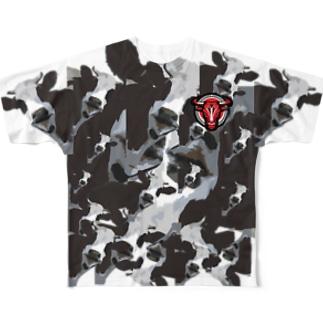 牛昇華グラフィックT Full graphic T-shirts