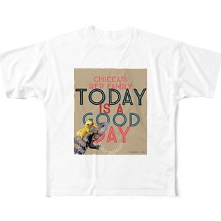 Today is a good day カカオ&シトラス Full graphic T-shirts