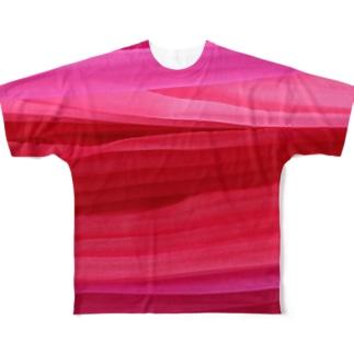 コーラルおーがんじー Full graphic T-shirts