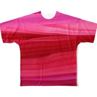 コーラルおーがんじー(前のみ) Full graphic T-shirts