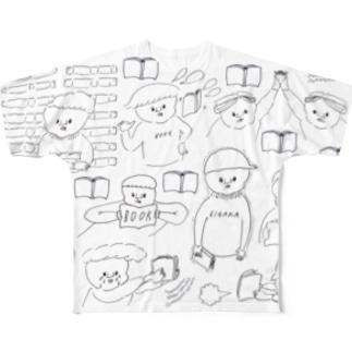 本好きのつどい フルグラフィックTシャツ