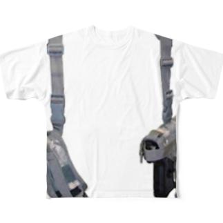 護身用ガンホルダー Full graphic T-shirts