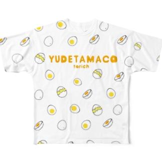 ゆでたまことりっち Full graphic T-shirts