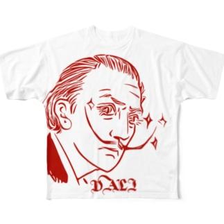 Red DALI Full graphic T-shirts