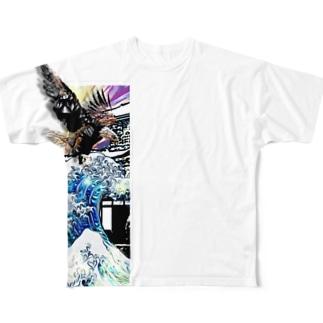 アクボクトウセン Full graphic T-shirts