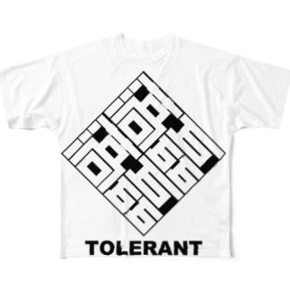 磊磊落落 Full graphic T-shirts