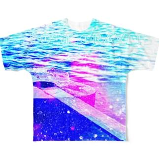 みずたま研究所の水面、逸れギター Full graphic T-shirts