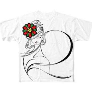 suparnaの飛鳥の乙女 シンプル Full graphic T-shirts