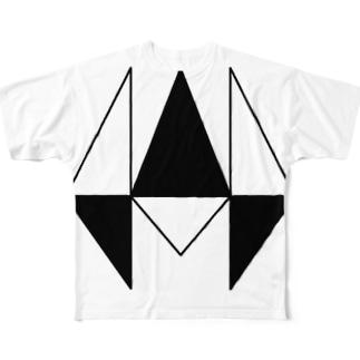 (SIZE-L)wayward logoT type-B Full graphic T-shirts