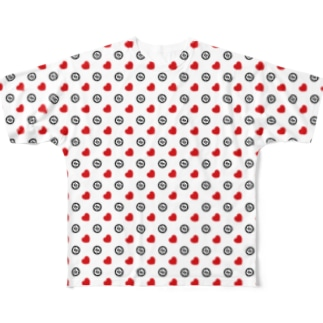 Heart & IOST WH Full graphic T-shirts