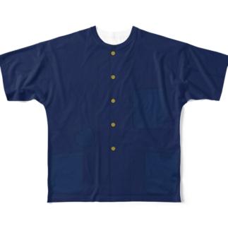 ナッパ服Tシャツ(金ボタン) Full Graphic T-Shirt
