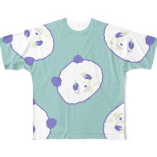 くじパンダ Ver.002 Full graphic T-shirts