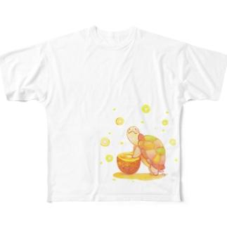 大好きな黄色みつけた Full graphic T-shirts