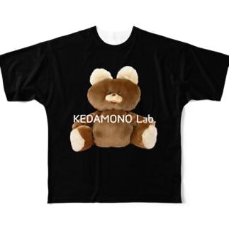 むくみちゃんBLACK Full graphic T-shirts