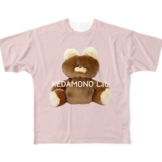 むくみちゃんPINK Full graphic T-shirts