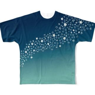 天の川01 Full graphic T-shirts
