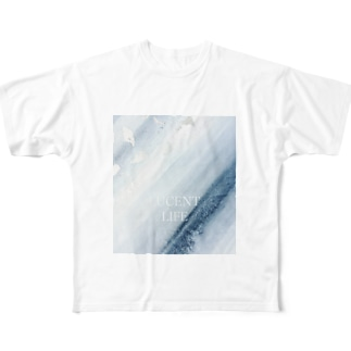 Sumi - Silver leaf Full graphic T-shirts