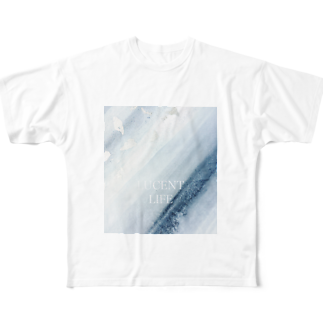 LUCENT LIFEのSumi - Silver leaf Full graphic T-shirts