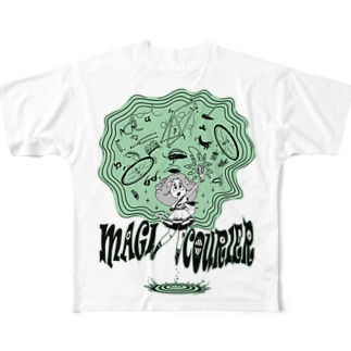 """""""MAGI COURIER"""" green #1 Full Graphic T-Shirt"""