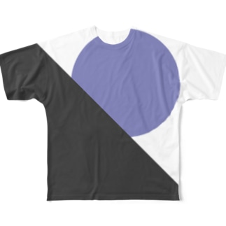 Blue circle Full graphic T-shirts