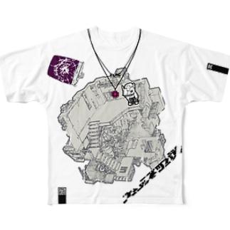 HEDZ NEST WHITE EX フルグラフィックTシャツ