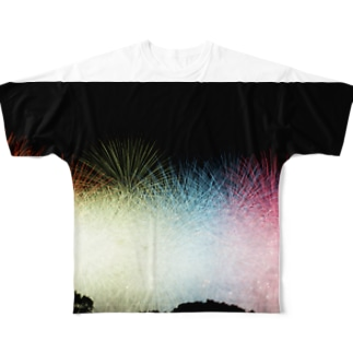 Colorful Fireworks Full graphic T-shirts