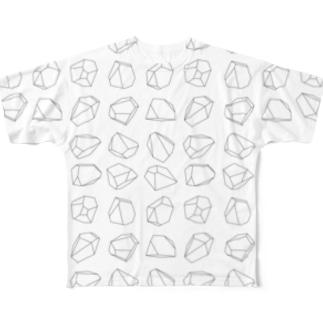 ブロックづくし Full graphic T-shirts
