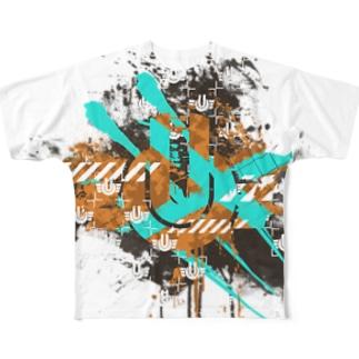 ゆるしてニャンがいっぱいつまったTシャツ。 Full graphic T-shirts