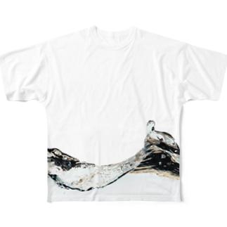 水 Full graphic T-shirts