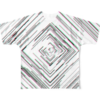 37. Square Swirl All-Over Print T-Shirt