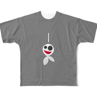 てるてるおばけ Full graphic T-shirts