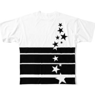 流れ落ちる星達 Full graphic T-shirts