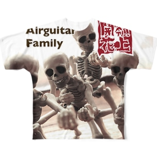 Airguitar Family 東北・嶺上開花(リンシャンカイホー) Full graphic T-shirts