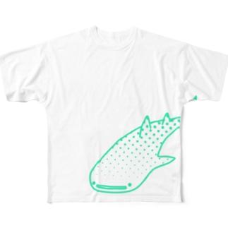 ジンベエザメ Full graphic T-shirts