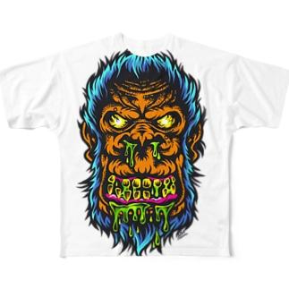 ブチ切れコングちゃん! Full graphic T-shirts