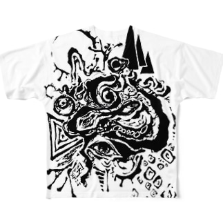 蛙 Full graphic T-shirts