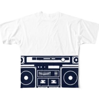 ラジカセのイメージ Full graphic T-shirts