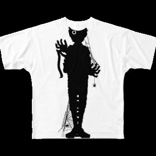 Cɐkeccooのホラーズシルエット(ミイラ男) Full graphic T-shirts
