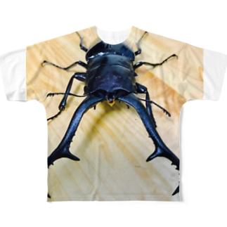 クワガタ ☆ギラファ☆2 Full graphic T-shirts