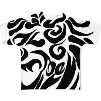 トライバルシーサー Full graphic T-shirts