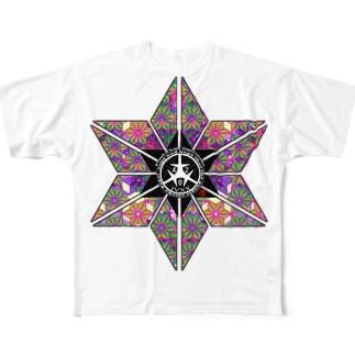 麻紋世田谷 フルグラフィックTシャツ