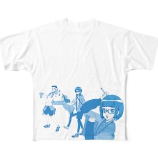 五〇度の真夏が巡る Full graphic T-shirts